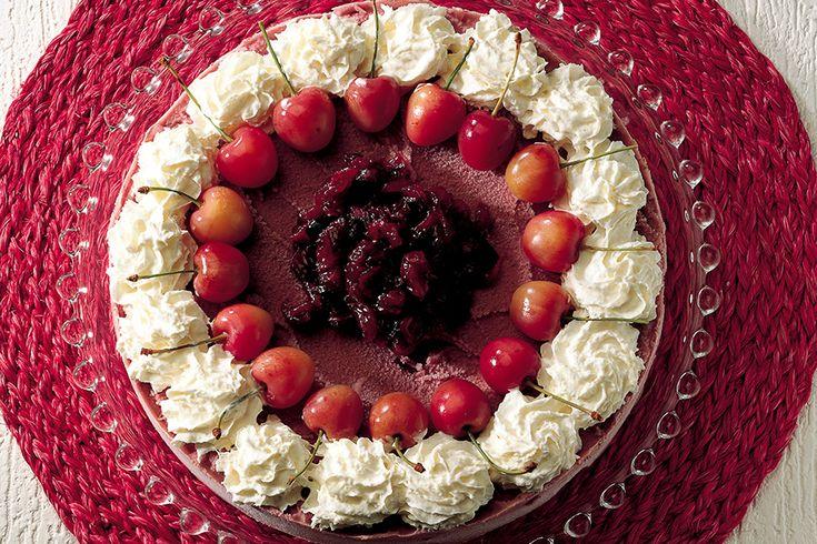 Torta gelato di ciliegie