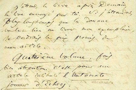 lettre-autographe de Baudelaire