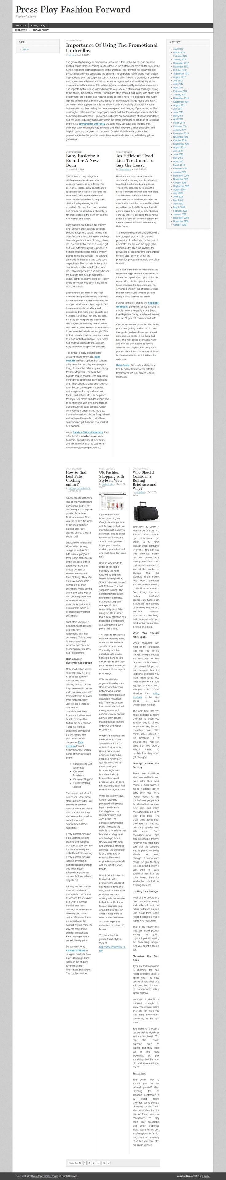 Fashion reviews and insights >> fashion --> http://pressplayfashionforward.com
