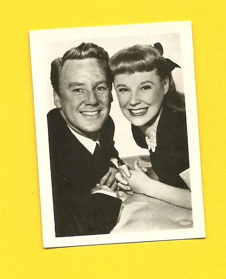 Van Johnson June Allyson Vintage 1953 Movie Film Star Cigarette Card Germany
