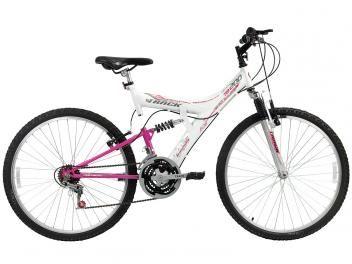 Bicicleta Track & Bikes Mountain Bike Aro 26 - 18 Marchas Suspensão Central Freios V-Brake