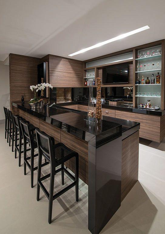 Decor: Cozinhas escuras  부엌 디자인, 부엌 및 인테리어