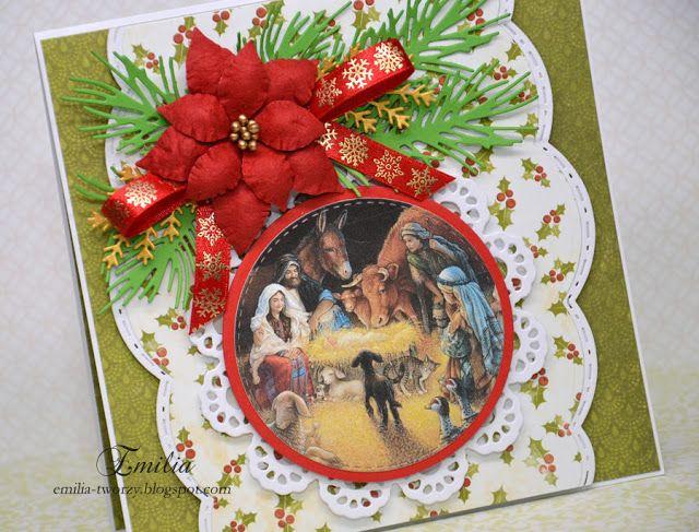 Emilia tworzy: Kartka na Boże Narodzenie/Christmas card/Xmas