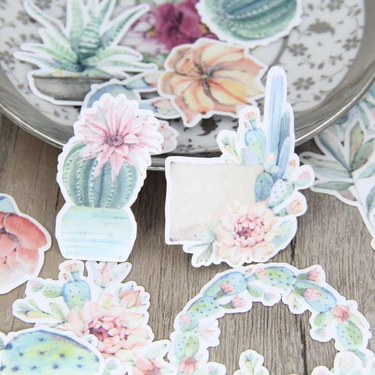 Cheap deco diy, Buy Quality deco green directly from China deco color Suppliers: Fresh Color Green Cactus Plant Flower Wreath Scrapbooking Stickers Decorative Sticker DIY Craft Photo Albums Decals Diary Deco