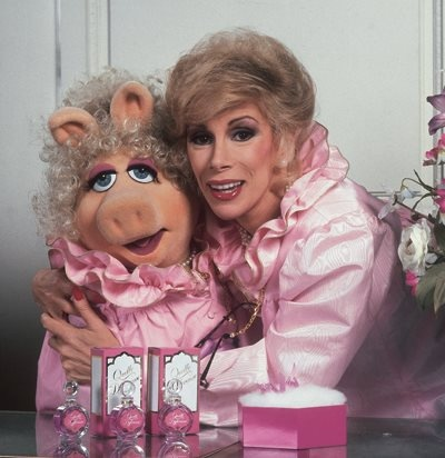 It's true: Joan Rivers and Miss Piggy once were fired from working a BG beauty counter. They got in a makeup fight.