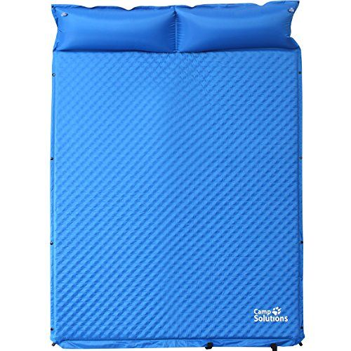 Camping Sleeping Pads - Camp Solutions Double SelfInflating Air Sleeping Pad for Outdoor Camping *** More info could be found at the image url.