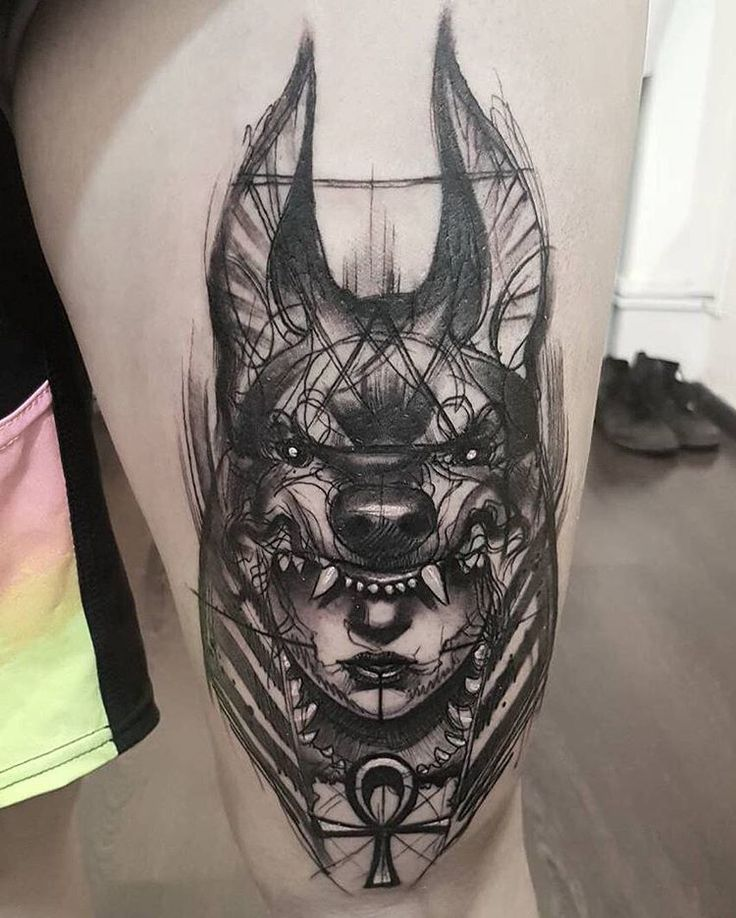 "Out of Step Books Publishing on Instagram: ""Check out this rad #Anubis #tattoo…"