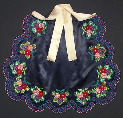 VINTAGE embroidered apron Slovak Folk Costume floral embroidery kroj Hungarian