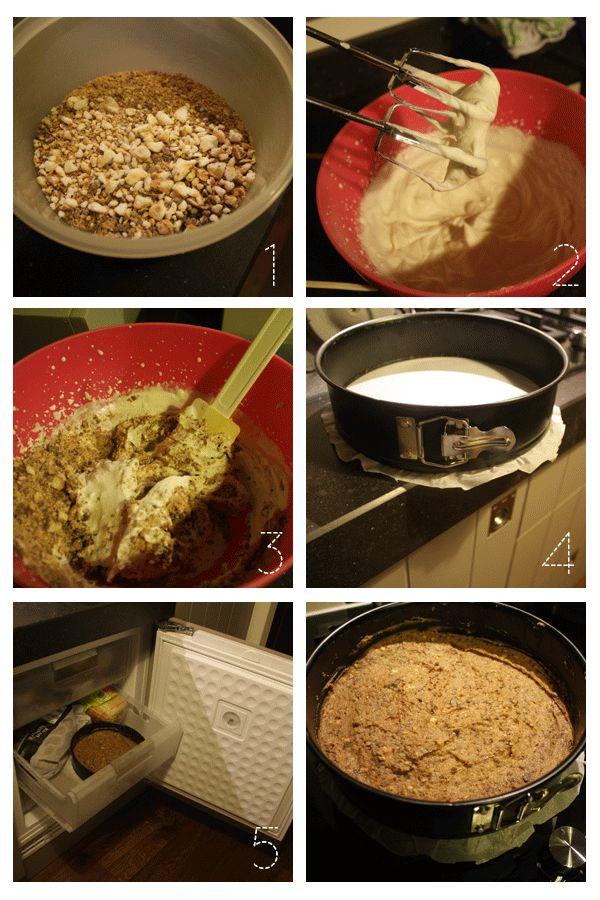 Bokkenpootjes-ijstaart (toevoegen: suiker! en in kleine bakjes als toetje)