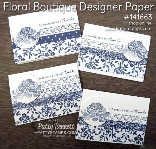 Floral Boutique Stampin' Up! Note Cards (Patty's Stamping Spot)