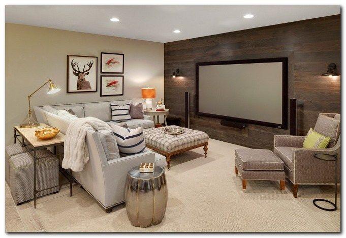 50 Cozy Tv Room Setup Inspirations Basement Decor Home