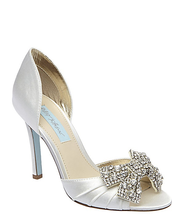 Blue by Betsey Johnson - Gown Satin Embellished Bow Pumps