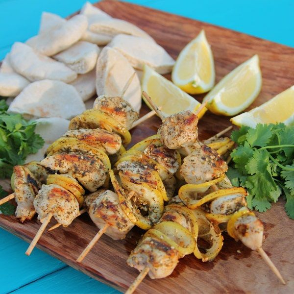Siba-licious chicken kebabs - with lots of lemony flavors