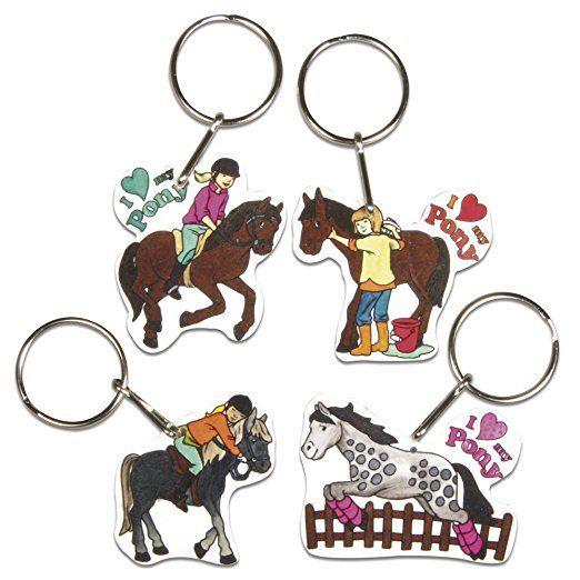 RAYHER - 75354000 - Schrumpffolien-Set  My Pony , 4 Motive m. Schlüsselring, 8-teilig