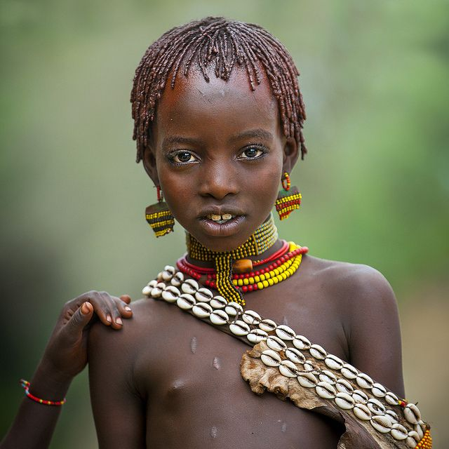Hamer Girl During Bull Jumping Ceremony, Turmi, Omo Valley, Ethiopia  Natives African  Pinterest  Eric Lafforgue, Ethiopia And Photography-1772