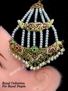Jadau Best Ruby color Jhumar for women just @ Rs 950/-. Order it now:  . Also have a look on all our pasa jhumar collections in Jadau, kundan and gold paltted designs: