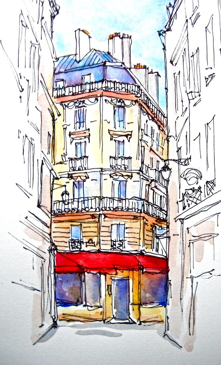 Sketchbook Wandering : To France & Back: Watercolor Drawings A Show