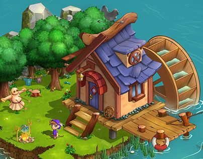 """Check out new work on my @Behance portfolio: """"Game location"""" http://be.net/gallery/58295047/Game-location"""