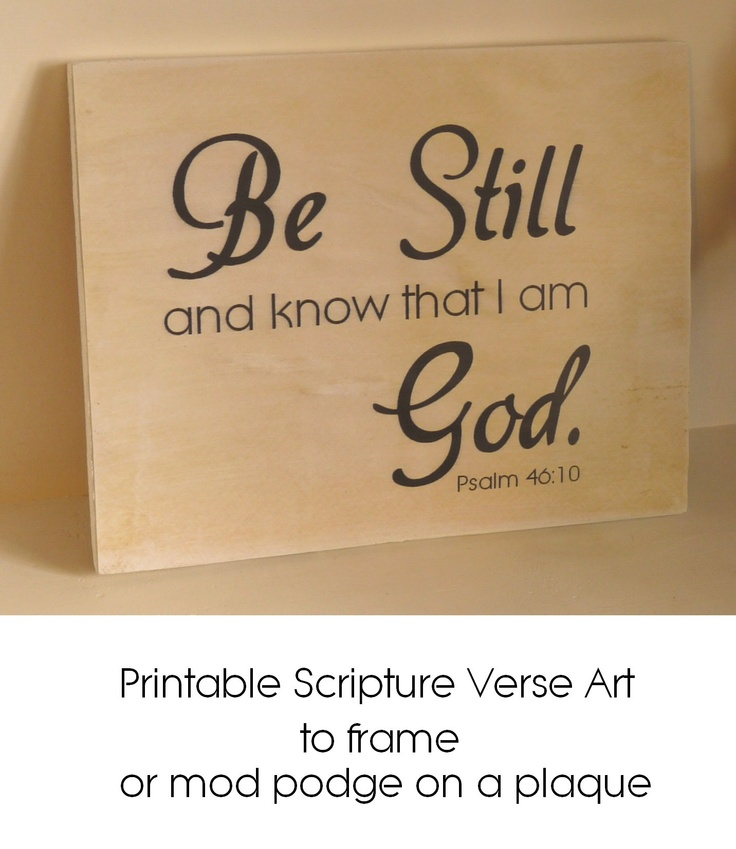 Printable Scripture Verse Art (King James Version)  Printable verse available in color or black and white