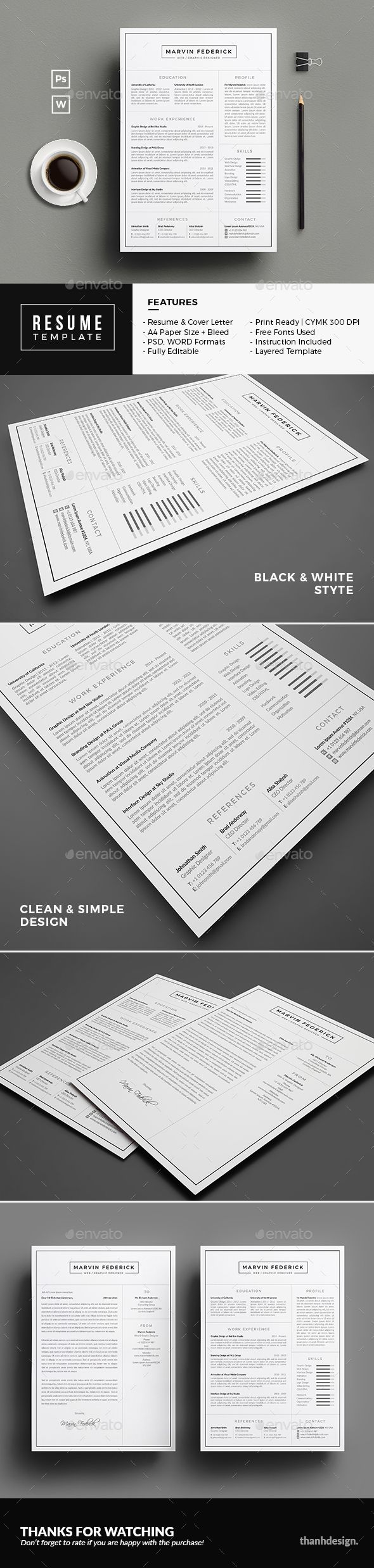 Resume Creative Cv TemplateSimple 108 best
