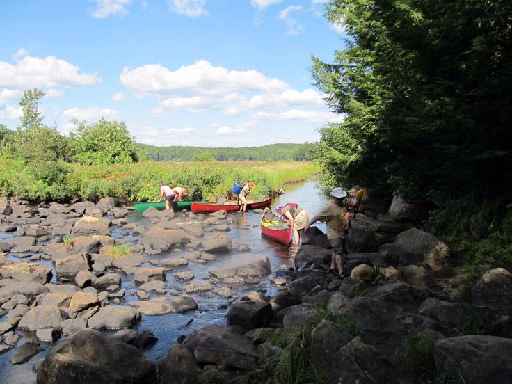 Portage into Welcome Lake Algonquin