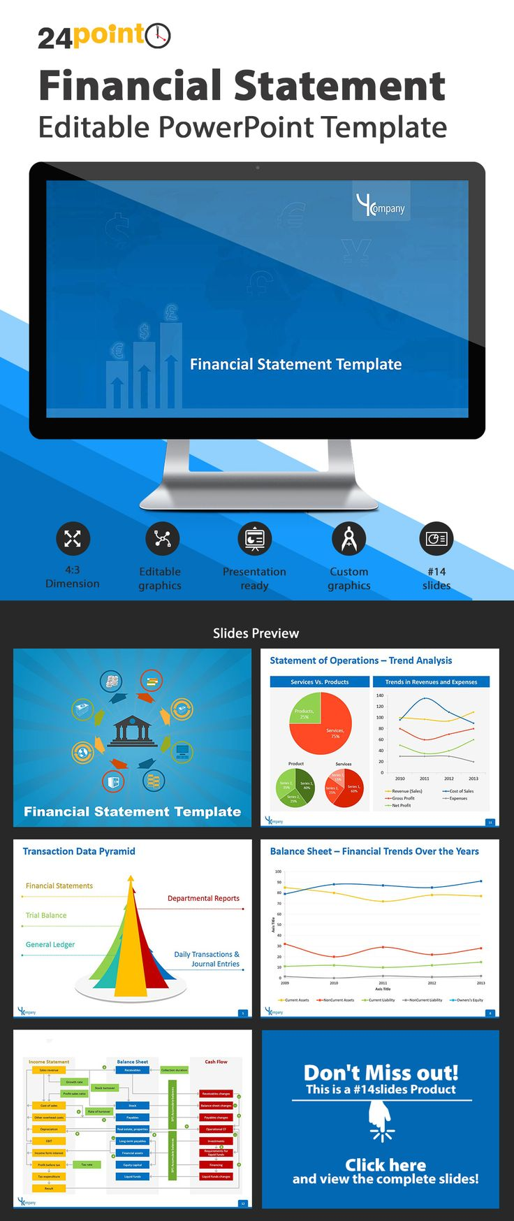 Financial statement powerpoint template use our 13 slide for Professional looking powerpoint templates