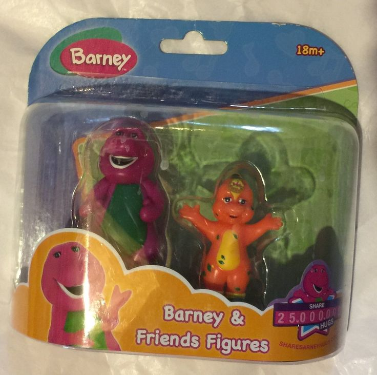 Barney & Friends Figures, Barney and Riff. Barney figure. Riff figure. All the imaginative and fun world of Barney and Friends.