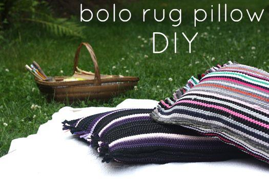 Bolo rug pillow tutorial