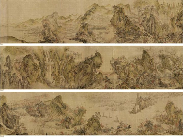 Mountains and Rivers without End Period/Date: Joseon . 18th century, Dimensions: 43.8x856.0 cm Artist: Yi In-Mun (1745 - after 1824)