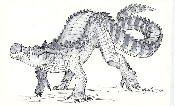 loverofmythology Kaprosuchus by