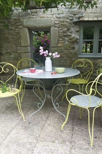 un salon de jardin comme neuf repeindre un salon de jardin en fer c - Salon De Jardin Mtal Color