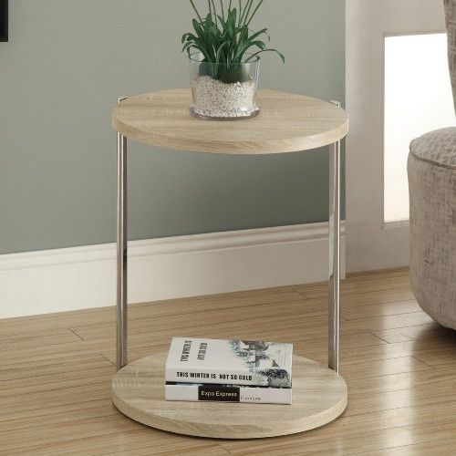 Monarch I 32 24 in. Reclaimed-Look Metal Accent Table