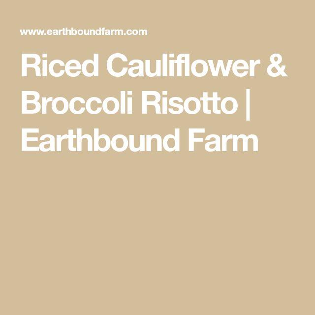 Riced Cauliflower & Broccoli Risotto   Earthbound Farm