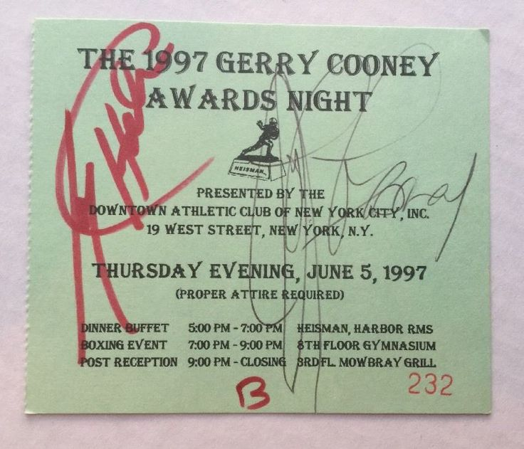 1997 Signed LARRY HOLMES & GERRY COONEY World HEAVYWEIGHT CHAMPION BOXING Ticket   eBay