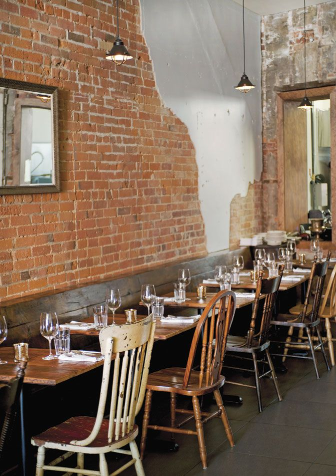 Mix Matched Chairs Rustic Restaurant Restaurant Design
