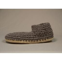 Men's Original Padraig Slipper, Grey Solid: The amazing Padraig Slipper! Handmade in Canada from wool, sheepskin lining, and leather sole.