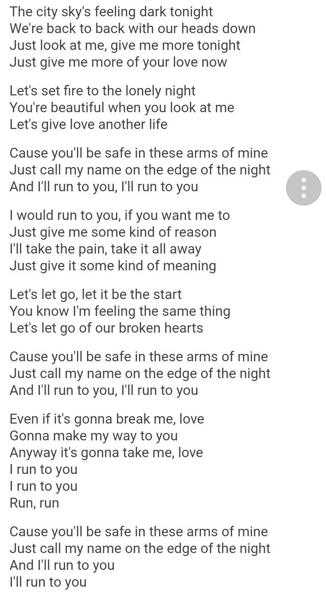 Run To You Lea Michele Be Yourself Quotes Yours Lyrics Lyric Quotes