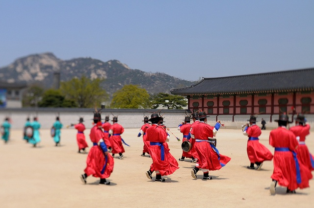 Gyeongbokgung Palace. Seoul, South Korea. This was pretty cool to watch.