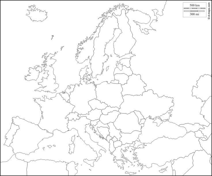 Europa : mappa gratuita, mappa muta gratuita, cartina muta gratuita ...