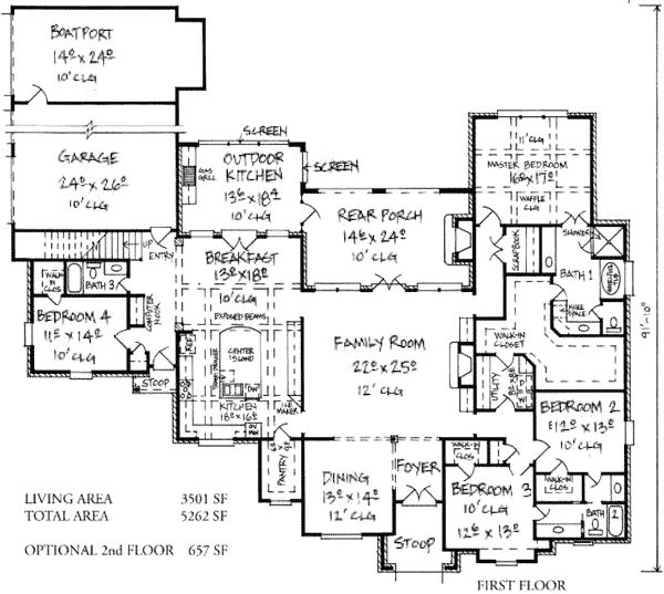 plan 14168kb stunning french country home plan