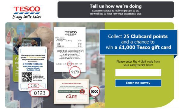 Www Tescoviews Com Get 1000 Gift Card Through Tesco Survey