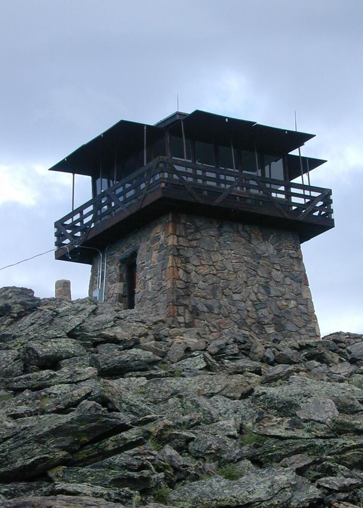 184 best fire lookout tower images on pinterest lookout for Fire tower cabin plans