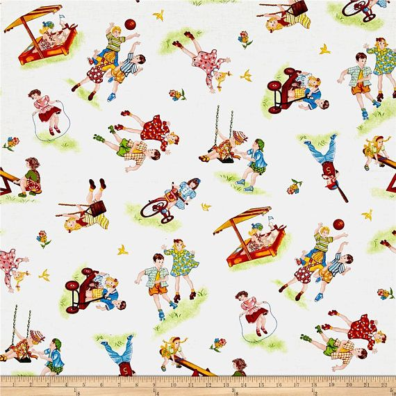 from Dorothy Prudie Fabrics FABRIC WEE PLAY old fashioned print  by Red Rooster     We