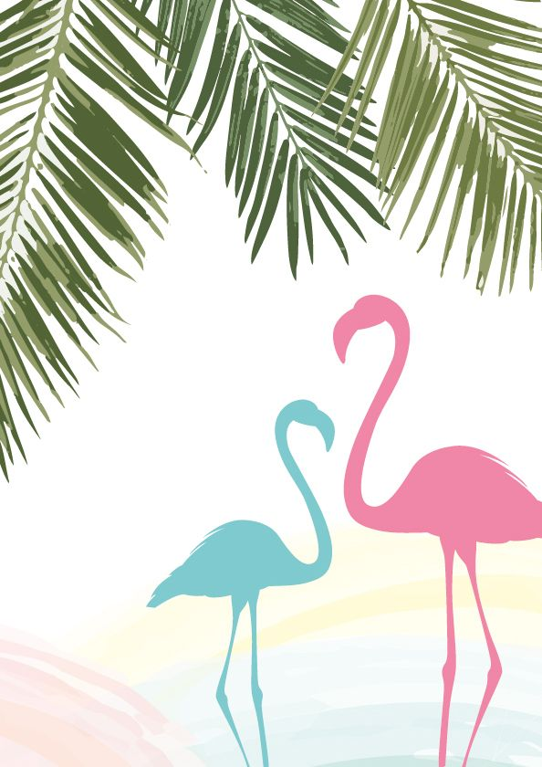 DO THE PALM FRAWNS IN MINTY TEAL COLOR THATS ALL ON THIS ONE... OTHER THAN THE FAINT PASTEL COLORS COMMING THROGH, I LIKE THAT!! LOL Print it | Flamingo fever