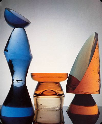 Max Ernst, glass chess pieces via Standing Ovation, Seated