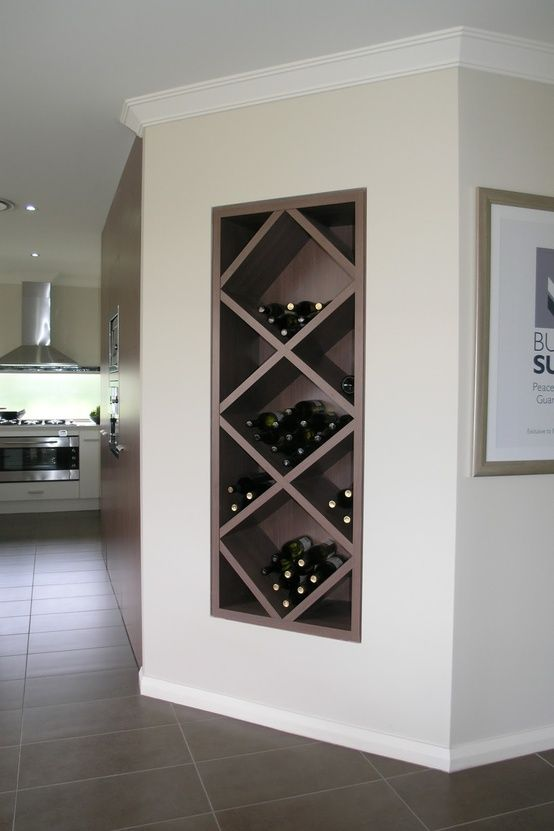 Built in wine nook. www.decohomebos.nl