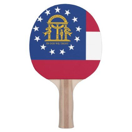 Ping pong paddle with Flag of Georgia USA - elegant gifts gift ideas custom presents