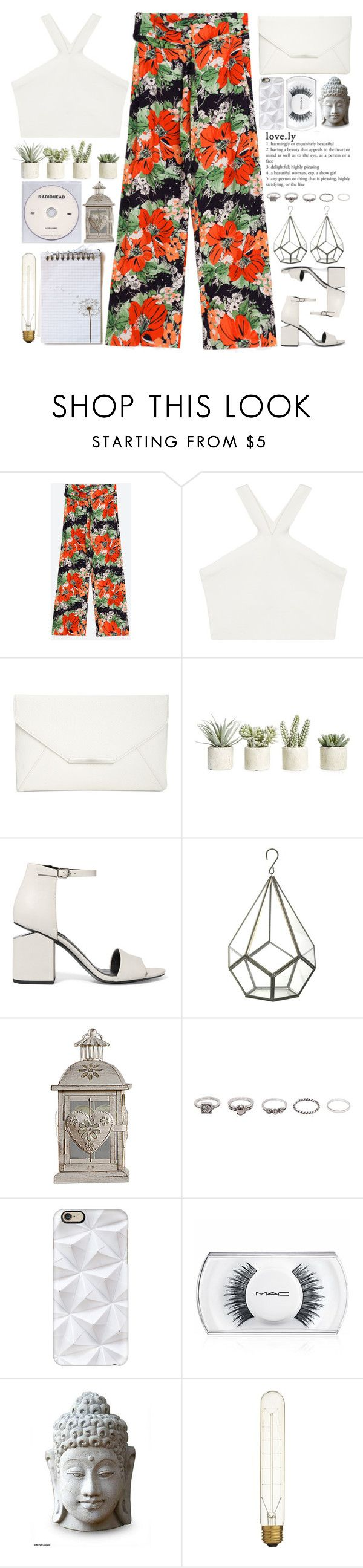 """love.ly"" by doga1 ❤ liked on Polyvore featuring BCBGMAXAZRIA, Style & Co., Allstate Floral, Alexander Wang, KEEP ME, BKE, Casetify, MAC Cosmetics, NOVICA and CB2"