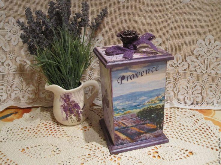 "Купить Короб для кухни ""Прованс"" - шкатулка, шкатулка деревянная, шкатулка декупаж, шкатулка для чая"
