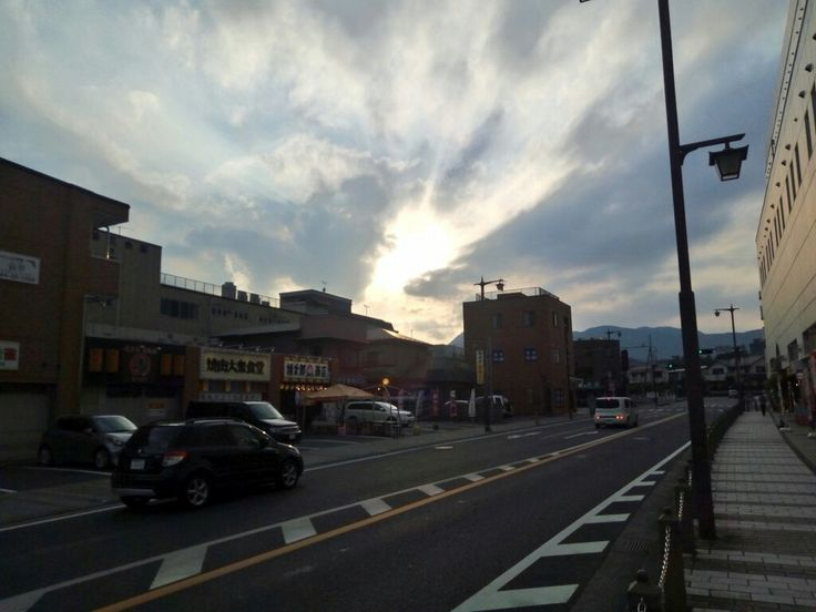 Atardecer en mi barrio 🌇✨ #Japón #夕焼け #日没